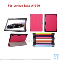 Three Folding Leather Case for Lenovo Tab 2 A10 70F