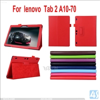 Leather Stand Case for Lenovo Tab 2 A10 70F