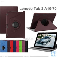 Rotating Leather Case for Lenovo Tab 2 A10 70F
