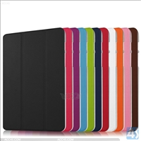 Crystal PC cover 3-fold pu leather case for SAMSUNG  Galaxy TAB S2 8.0 SM T715