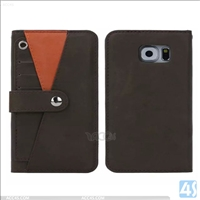 Multifunctional detachabel PU leather TPU wallet cover case for  SAMSUNG Galaxy S6 Edge