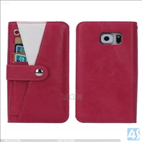 Multifunctional detachabel PU leather TPU wallet cover case for SAMSUNG Galaxy S6 / SM-G925F