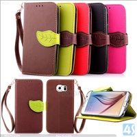 Wrist strap Leather case for SAMSUNG  Galaxy S6