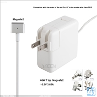 T tip Genuine 60W Magsafe2 Power Adapter A1435 16.5V3.65A for APPLE Macbook