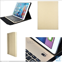 4mm Aluminum PU Leather Bluetooth Keyboard Case for iPad Pro 12.9