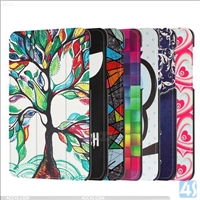 Printed PU Leather Tri Fold Case for ASUS ZenPad Z8 / ZT581KL