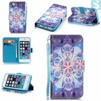 Patterned PU Leather Wallet Case for APPLE iPhone SE/ 5/ 5S