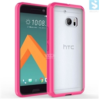 Colorful Bumper Clear Back Cover Gummy Case for HTC One M10