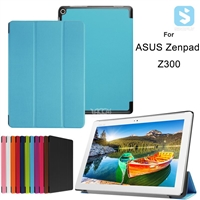 Tri Fold PU Leather Case for ASUS Zenpad 10 Z300M Z300CNL