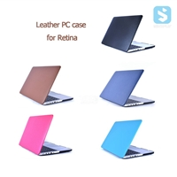 PU Leather Snap On Case for MacBook Pro 15 Retina