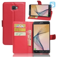 Litchi PU Leather Wallet Case for SAMSUNG Galaxy On7(2016) /G6100