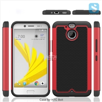 Football Pattern PC TPU Silicon 3in1 Case for HTC Bolt 10 Evo