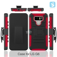 3in1 PC TPU Silicon Belt Clip Case for LG G6
