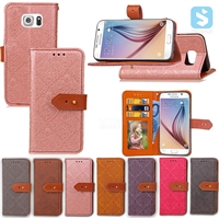 PU Leather Wallet Case for SAMSUNG Galaxy S6 / SM-G925F