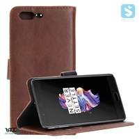 PU Leather Wallet Case for OnePlus 5
