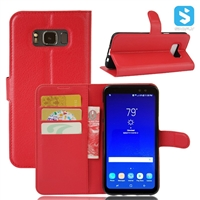 Litchi PU Leather Wallet Case for SAMSUNG Galaxy S8 Active