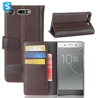 Genuine Leather Wallet Case for SONY Xperia XZ1