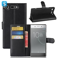 Litchi PU Leather Wallet Case for SONY Xperia XZ1