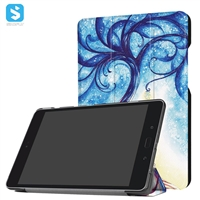 Printed PU Leather Tri Fold Case for ASUS Zenpad Z8S (ZT582KL)