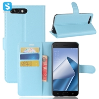 Litchi PU Leather Wallet Case for ASUS ZenFone 4 Pro (ZS551KL)