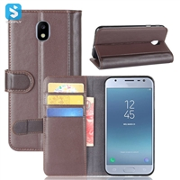 Genuine Leather Wallet Case for SAMSUNG Galaxy J3 (2017)