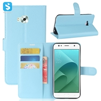 Litchi PU Leather Wallet Case for ASUS ZenFone 4 Selfie (ZD553KL)
