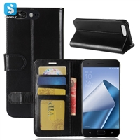 Crazy Horse PU Leather Wallet Case for ASUS ZenFone 4 Pro (ZS551KL)