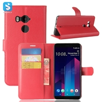 Litchi PU Leather Wallet Case for HTC U11 Plus