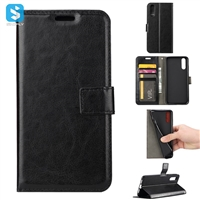 Crazy Horse PU Leather Wallet Case for Huawei P20