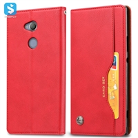 PU leather wallet phone case for Sony Xperia XA2