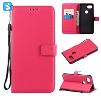 Pure color lambskin leather wallet phone case for Google  piexl XL 2