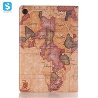 Map pattern front stand insert card leather case for Huawei MediaPadM5 Pro 10.8