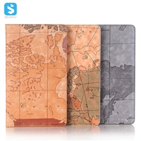 Map pattern front stand insert card leather case for Huawei Mediapad M5 8.4