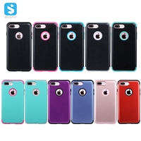 3 in 1 Hybrid PC+silicone phone case for iPhone 7 8 plus