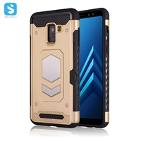 TPU+PC+iron 3 in 1 phone case for Samsung A8 2018