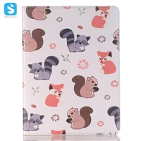 cartoon leather case with pencil slot for iPad 10.5