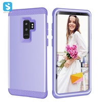 3 in 1 PC silicone phone case for Samsung Galaxy S9+/S9 plus