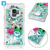 colorful print shockproof liquid sand phone case for Samsung Galaxy S9