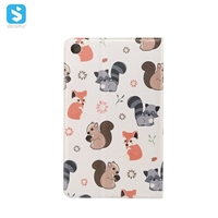 Cartoon colorful print leather case for MI MiPad 4
