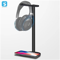 Wireless charging of headset holder