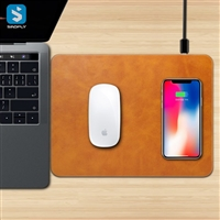 wireless charger mouse pad ( front and back Pu leather)
