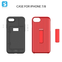 TPU PC phone case with stand for iPhone 7 8