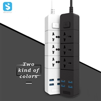 4 USB ports with auto-id identific ation ,3 power socket