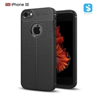 Litchi lines TPU phone case for iPhone SE 5 5S
