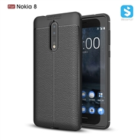 Litchi line TPU phone case for Nokia 8