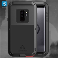 zinc alloy silicone Metal earphone buckle phone case for Samsung Galaxy S9