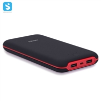 Curved plastic case mobile power bank