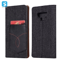 TPU PU jean phone case for SAMSUNG  Galaxy Note 9