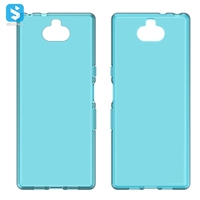 Waterproof grain TPU phone case for Sony Xperia XA3