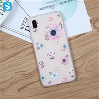 White Matte emboss TPU phone case for HUAWEI P20 Lite